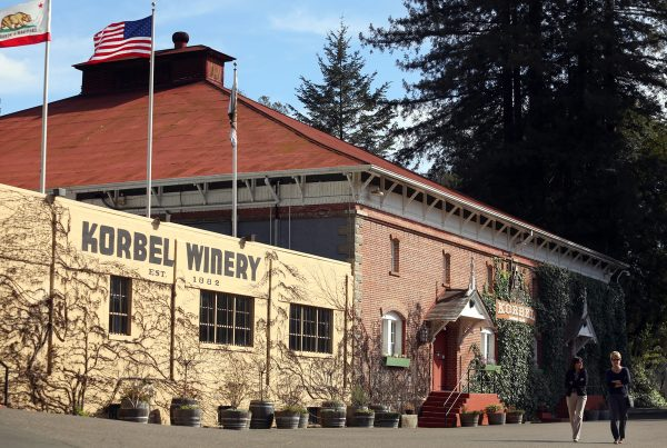 Korbel Winery in Guerneville. (Christopher Chung/ The Press Democrat)